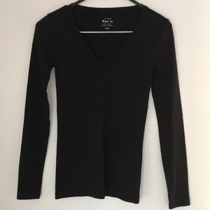 J. Crew Perfect-fit V-neck Long Sleeve Tee